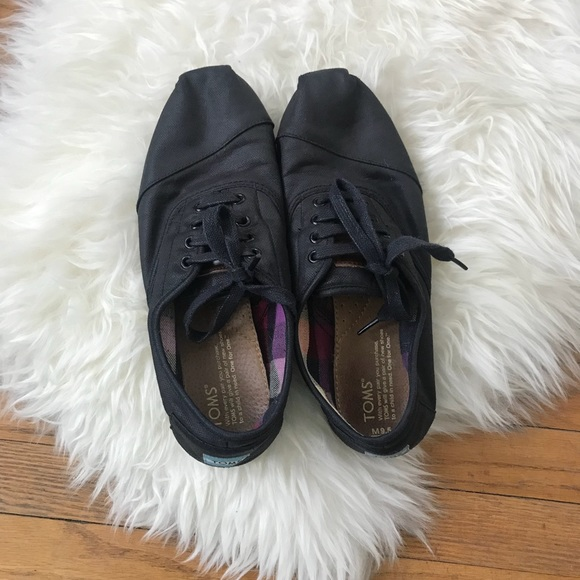 7e7cd6e38312 Toms Men s Canvas Black Lace Up Cordones Shoes. M 5aad69649cc7ef9ad5f75315